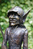 close up of Hadge the bronze goblin from Metallic Garden