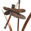 copper dragonfly sculpture