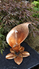 copper Arum Lily fountain by Gary Pickles of Metallic Garden