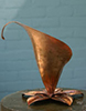 copper arum lily fountain