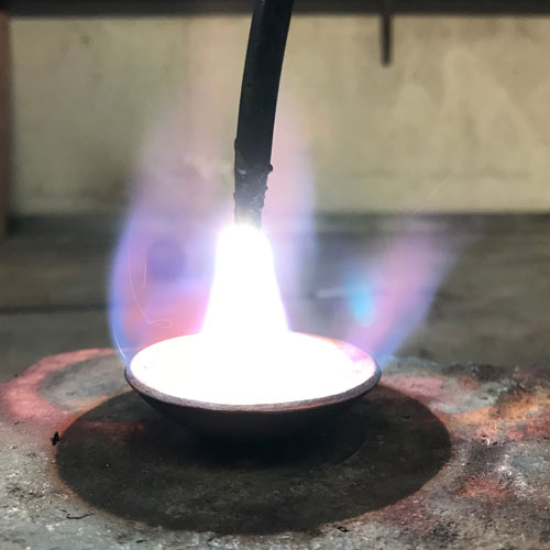 heating a copper bowl