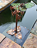 copper cyclamen water feature by Gary Pickles of Metallic Garden
