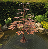 maple tree copper water feature in a pond - by Gary Pickles of Metallic Garden