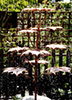 copper maple tree water feature in a garden pond - by Gary Pickle of Metallic Garden