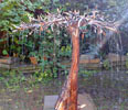 olive tree copper fountain by Gary Pickles of Metallic Garden