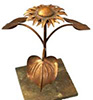 Sunflower copper fountain water feature by Gary Pickles