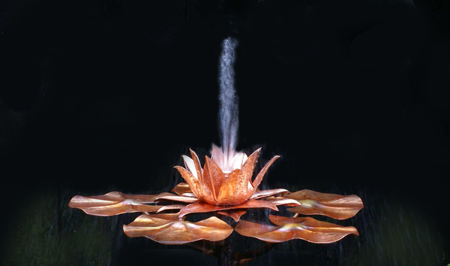water lily copper fountain click for details