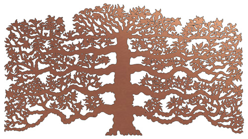 Espalier Fruit Tree - copper donor recognition tree by Metallic Garden