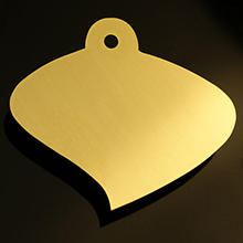 engravable brass curved Aspen leaf plaque