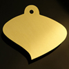aspen leaf brass plaque