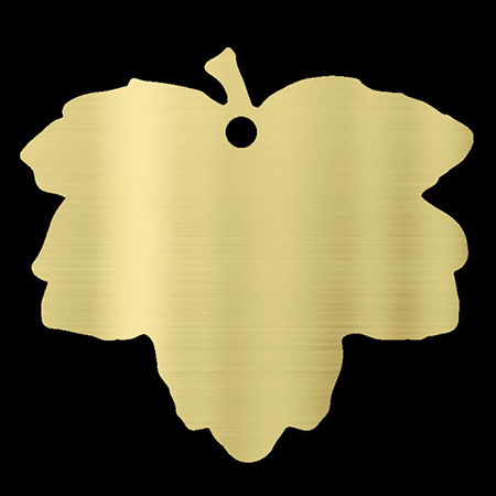 Engravable Brass Filed Maple leaf plaque for donation recognition and remembrance