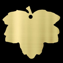 engravable brass Field Maple leaf plaque