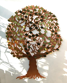 copper fundraising tree