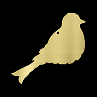 Brass bird plaque