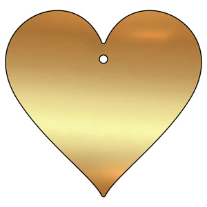 brass love heart plaque