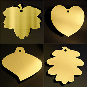 brass leaf plaques